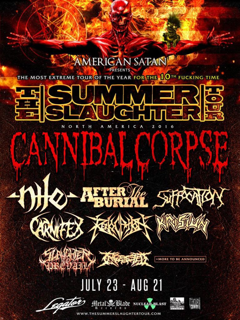 Cannibal Corpse Tour Mn